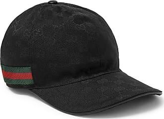 776d48cdc29 Gucci Webbing-trimmed Monogrammed Canvas Baseball Cap - Black