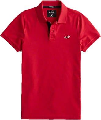 Hollister New RED ICON Epic Flex Stretch Polo Shirt Men SZ X-Small XS