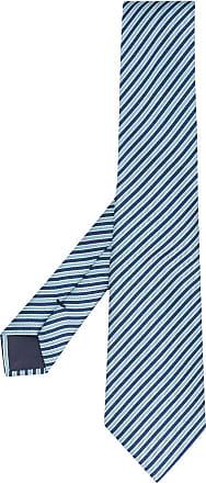 Giorgio Armani Gravata com listras diagonais - Azul