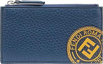 Fendi FF stamp patch card holder - Azul