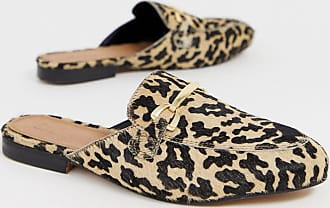 Asos Moves leather mules in leopard-Multi