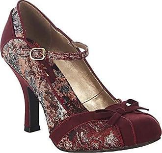 f984f7dd477aef Ruby Shoo Damen Schuhe Cleo Floral Faux Suede Riemchen Pumps Rot Geschlossen  40