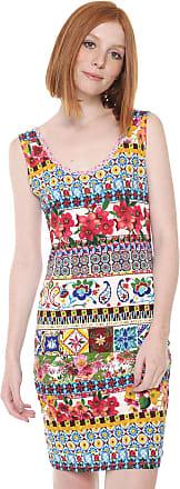 7b140498d Desigual Vestido Desigual Curto Luana Off-White Vermelho