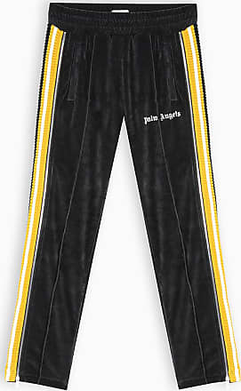 Palm Angels Pantalone jogging in velluto nero