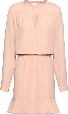 Joie Joie Woman Gathered Fluted Crepe De Chine Mini Dress Pastel Pink Size M