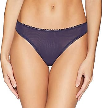 OnGossamer Womens Intimate Apparel Mesh Low-Rise Thong Panty, Navy, X