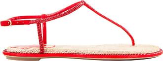Rene Caovilla Sandália Satin Rope Vermelha - Mulher - Vermelho - 34.5 IT