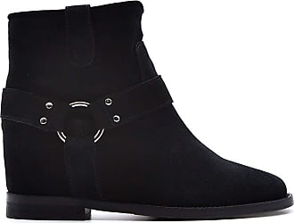 Via Roma 15 Fashion Woman 3255086VELOURNERO Black Suede Ankle Boots | Spring Summer 20