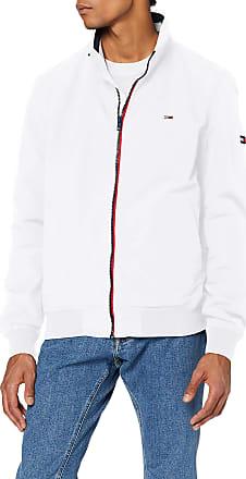 Tommy Jeans Mens TJM Essential Bomber Jacket, White (White Ybr), XX-Large (Size:XXL)
