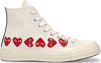 Comme Des Garçons X Converse Multi Rotes Herz Chuck Taylor All Star 70 High White Schuhe - white | 5.5 uk - White/White