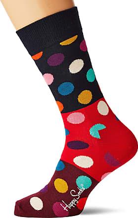 Happy Socks Mens Big Dot Block Sock, Multicolour (Multicolour 430), 7-10 (Size:41-46)
