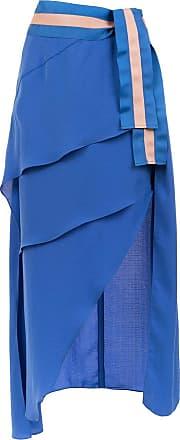 TIG Saia Yanna com babados - Azul