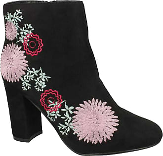 New Womens Dolcis Black Celina Microfibre Boots Ankle Zip