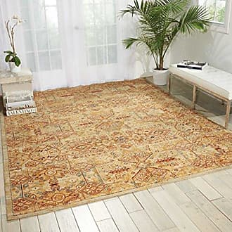 Nourison Rhapsody (RH008) Light Gold Rectangle Area Rug, 5-Feet 6-Inches by 8-Feet (56 x 8)