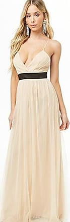 Forever 21 Forever 21 Surplice Tulle Gown Nude/black
