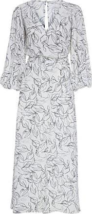 Canal Vestido Fluido Leaf Line Canal - Branco