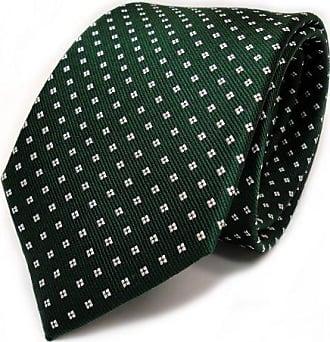 Modische TigerTie Designer Krawatte in grün dunkelgrün schwarz gepunktet