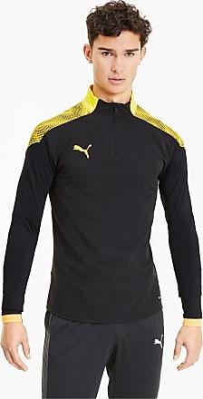 Puma Football NXT Quarter Zip Mens Football Sweatshirt, Black/Ultra Yellow, size 2X Large, Clothing