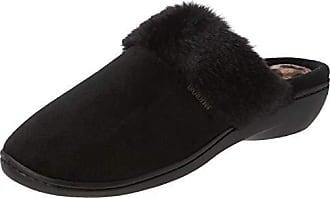 e5c0ef587e Isotoner Heeled Mule W Fur Cuff Slippers