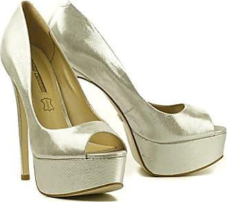 Buffalo Damen High Heels Pumps Platform Plateau Peeptoe Leder Gold ZS  5666-15 (41 2b52a719ac