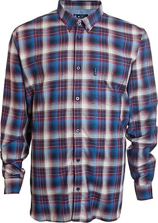 Ben Sherman Kingsize 53098 Check L/S Shirt 5XL 62-64 Wine