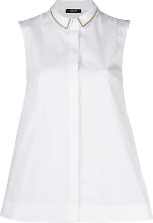 PESERICO sleeveless button down shirt - Branco