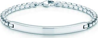 Tiffany & Co. Mens Venetian Link ID bracelet Sterling silver - Size 8.25 in