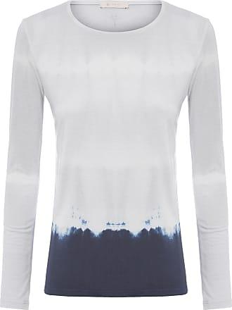 Yogini Camiseta Tie Dye Manga Longa Gaya - Cinza