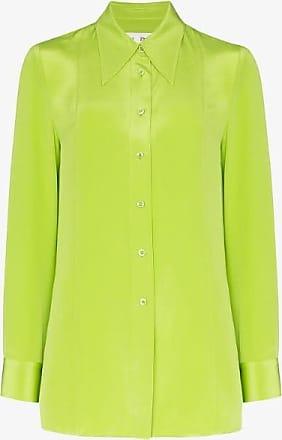 Xu Zhi Xu Zhi Womens Green Silk Button-down Shirt
