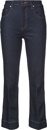 Khaite Calça jeans cropped - Azul