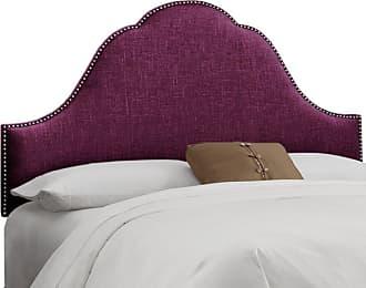Skyline Furniture Skyline Arch Nail Button Woven Upholstered Headboard Midnight, Size: Queen - 852NB-SVKLNMDN