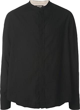 Ziggy Chen colarless shirt - Black