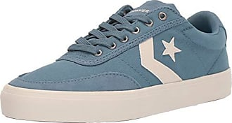 Converse Mens Unisex Courtlandt Canvas Low Top Sneaker, Celestial Teal/White 11 M US