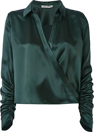Martha Medeiros wrap Andrea shirt - Green
