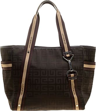 Givenchy Khaki brown Signature Nylon And Leather Tote 6701a5661a520