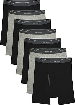 Fruit Of The Loom Mens COOLZONE Boxer Briefs, 7 Pack-Black/Gray, XL