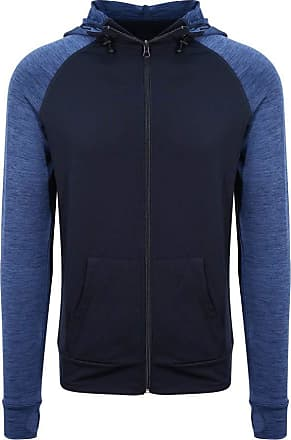 Awdis Just Cool Mens Contrast Zoodie (XXL) (Navy/Navy Melange)