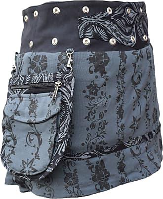 Gheri Floral Short Popper Removable Pocket Reversible Cotton Skirt J