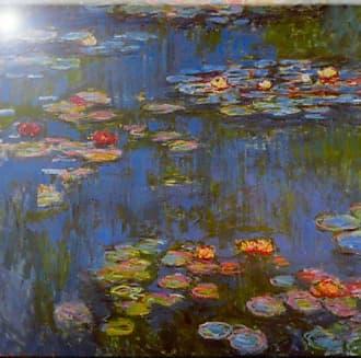Rikki Knight Claude Monet Waterlillies Design Art Ceramic Tile, 4 by 4-Inch