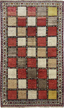 Nain Trading 183x111 Persian Gabbeh Rug Beige/Dark Brown (Iran/Persia, Wool, Hand-Knotted)