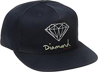 Diamond Supply Company Mens Og Script Brilliant Snapback, Navy, One-Size