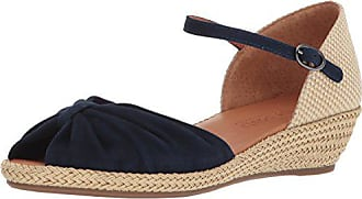 Gentle Souls by Kenneth Cole Womens Lucille Low Wedge Espadrille Sandal Sandal, navy, 7.5 M US