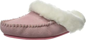 1399a5a66aa SNUGRUGS Womens Luxury Lambswool Suede Mule Slipper with Rubber Sole - Pink  - 6 UK