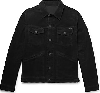 Tom Ford Washed Cotton-blend Corduroy Trucker Jacket - Black
