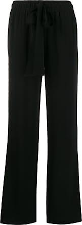 Diane Von Fürstenberg Calça pantalona com ajuste de cordão - Preto
