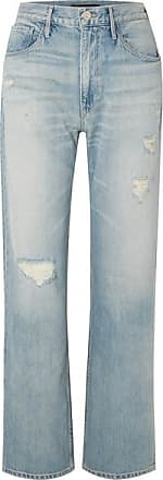 3x1 Addie Distressed Boyfriend Jeans - Light denim