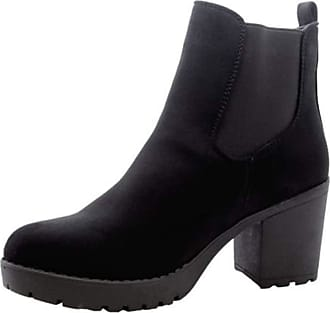 Saute Styles Ladies Womens Block Chunky Heels Chelsea Ankle Boots Grip Sole Office Shoes Size 6