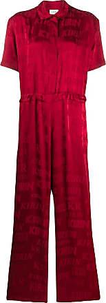 Kirin button down sporty jumpsuit - Red