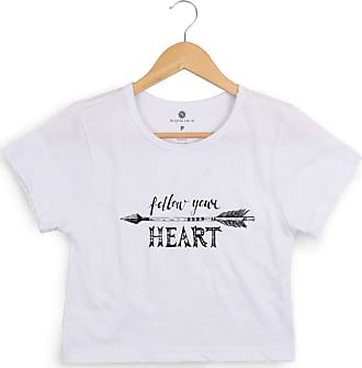 Morena Deluxe Cropped Morena Deluxe Follow Your Heart Branco
