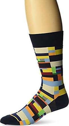 Ozone Mens Radical Geometry Sock, Navy, 10-13